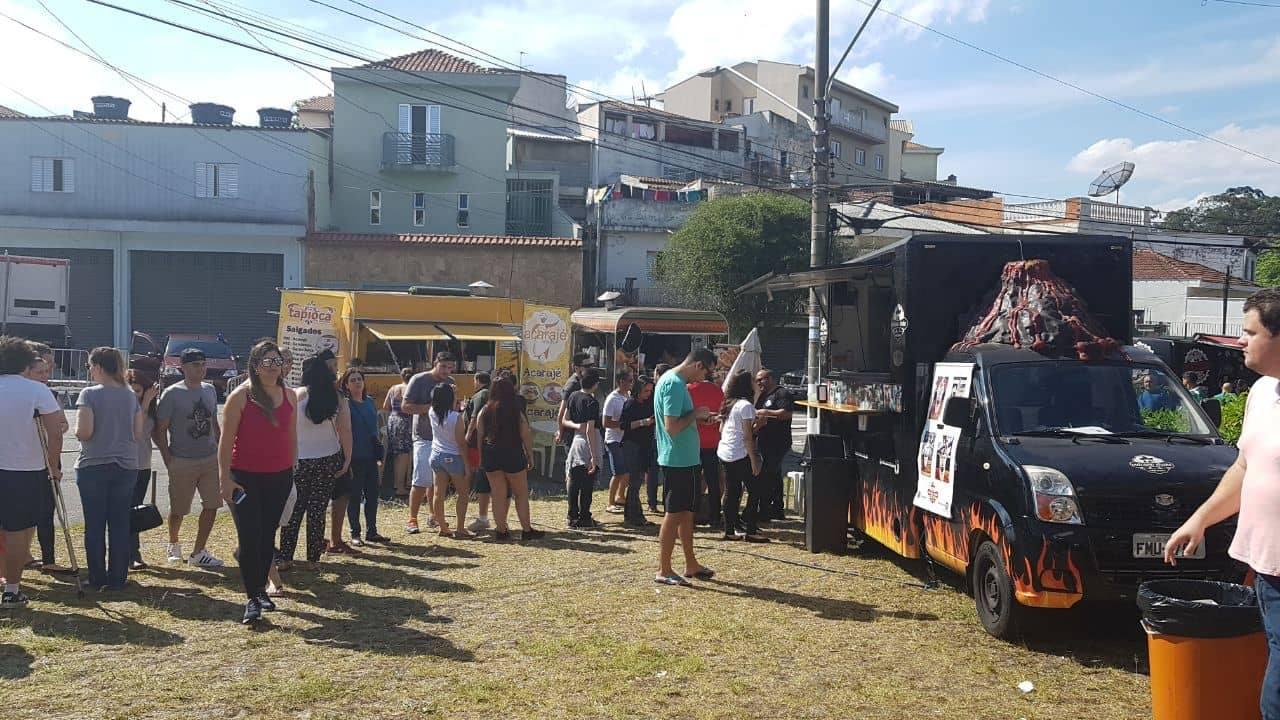 Festival Food Truck organizado pela AtitudeG3 no distrito vizinho. Foto: acervo atitudeG3