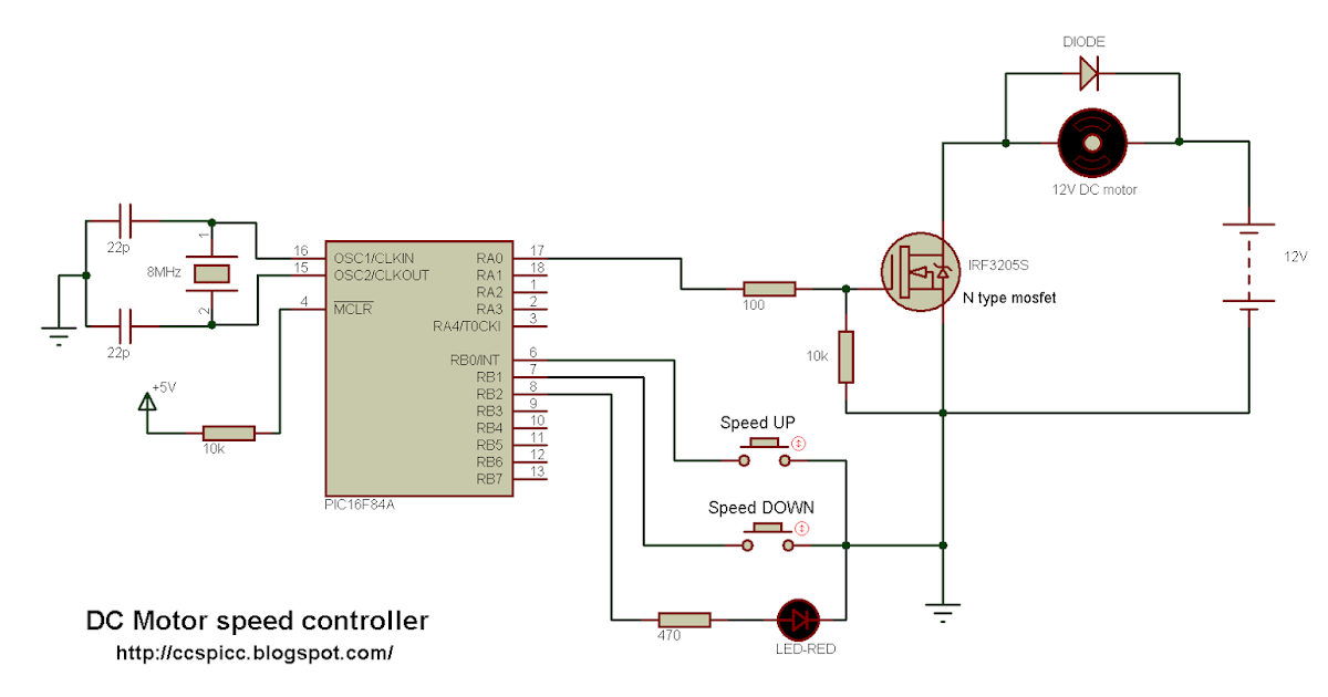 Dc Motor Speed Control Using Pic16f84a And Ccs Pic C