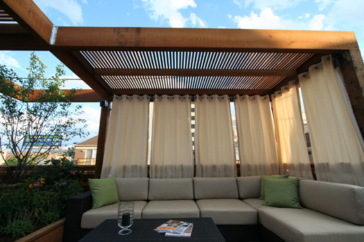 Made Of Metal: Outdoor Curtains