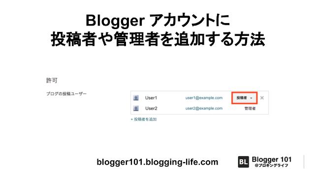 Blogger アカウントに投稿者や管理者を追加する方法- 記事バナー