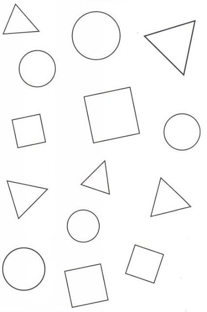 Figuras geom tricas dibujos para colorear ciclo escolar - Formas de pintar una casa ...
