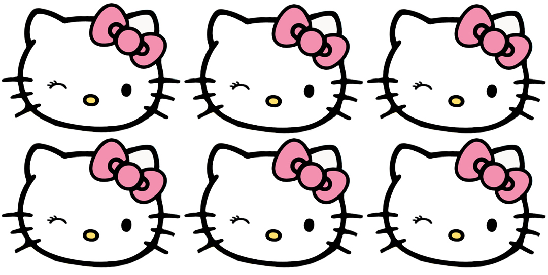 The contemplative creative hello kitty thank you cards for Hello kitty cut out template
