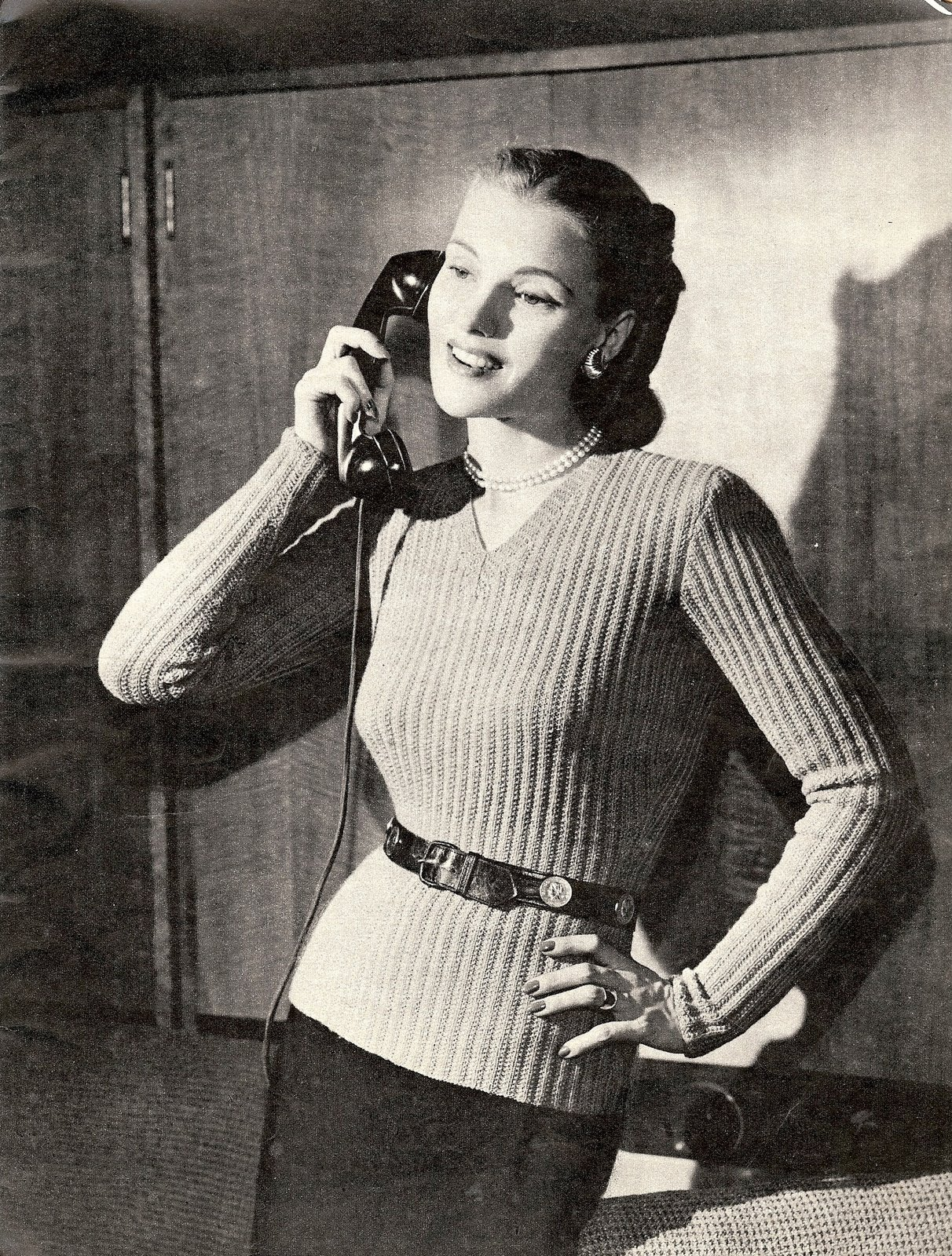 The Vintage Pattern Files: 1940's Knitting - A New Torso ...