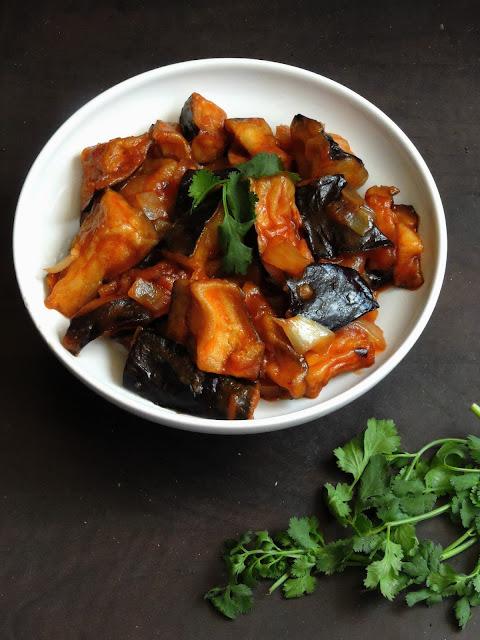 Vegan Eggplant Manchurian