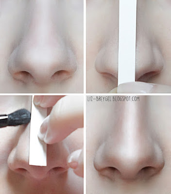 Make Your Nose Look Smaller Thinner slimmer step by step Contouring tutorial pictorial liz breygel blogger