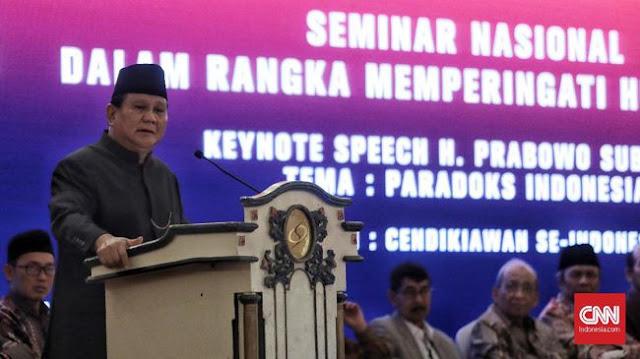 Prabowo: Utang Naik Rp1 Triliun tiap Hari, Indonesia Terancam jadi Negara Dhuafa