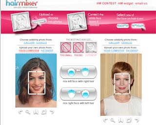 Edit foto dengan rambut mirip artis idola di hairmixer