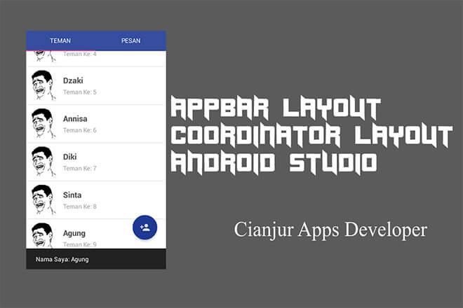 Cara Membuat AppBarLayout dan CoordinatorLayout di Android Material Design