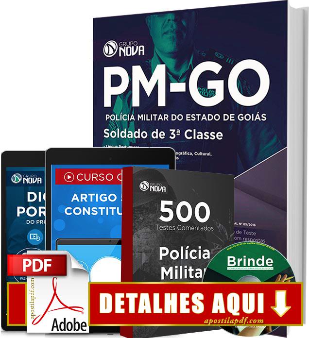 Apostila PM GO 2016 Soldado da Polícia Militar de Goiás Impressa