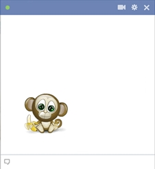 Little Monkey Emoticon For Facebook