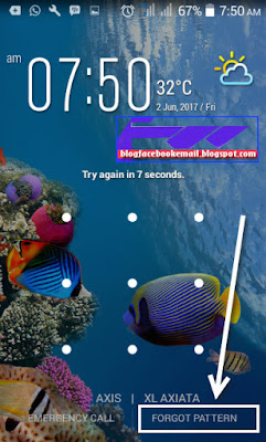 cara masuk ke HP android tapi lupa pola lockscreen