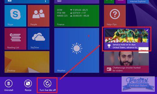 Turn live tile off atau non aktifkan live tile untuk meningkatkan kecepatan internet di windows 8