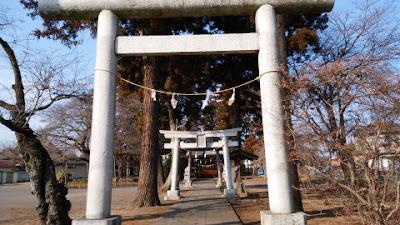 あきる野市の神社 渕上の出雲神社 鳥居
