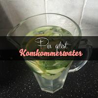 Komkommerwater - pin getest