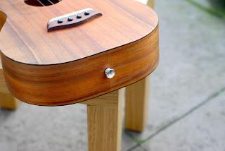 Kanile'a K1 Tenor ukulele strap button