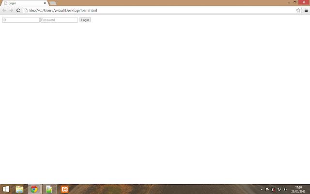 form login html css