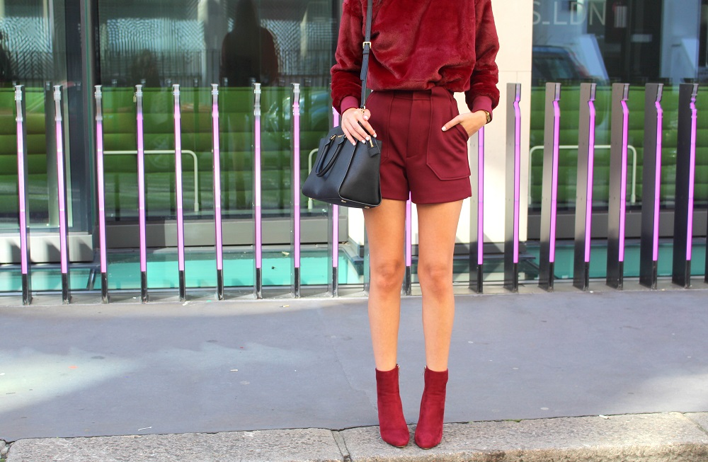 peexo fashion blogger wearing burgundy and suede lfw ss16 street style