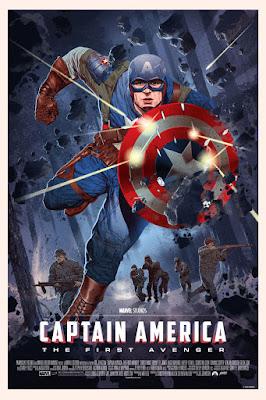 Captain America The First Avenger Regular Edition Marvel Screen Print by Stan & Vince x Mondo