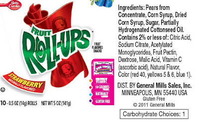 fruit roll ups label