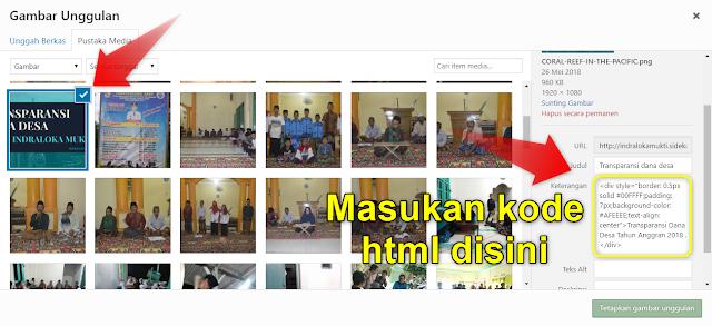 Cara Membuat Tabel Caption Gambar Website Desa (SiDeKa)