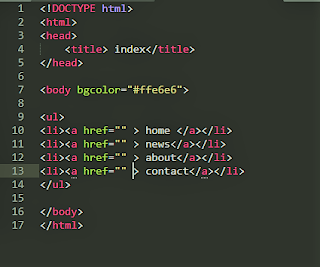 قائمة html