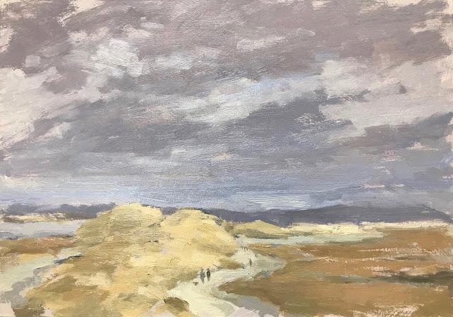 #296 'Storm Approaching, East Head' 8×12″