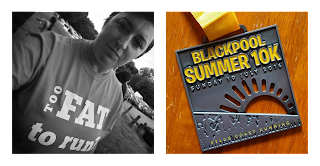 Things I Learnt In July - running a virtual 5k and running a 10k in Blackpool