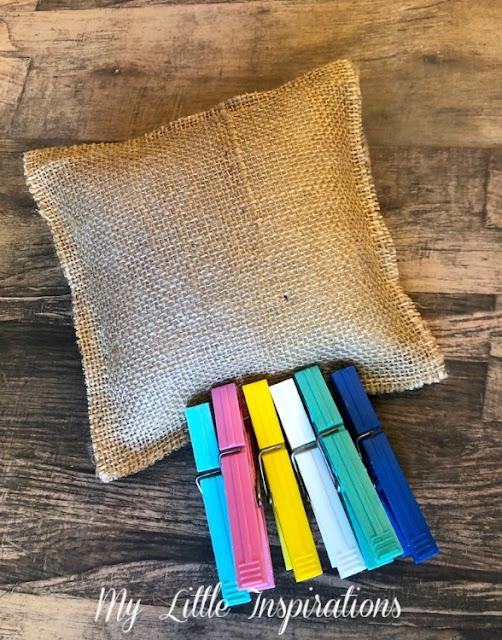 Cuscinetto Porta Fedi Rustico Romantico MLI - cuscinetto imbottito