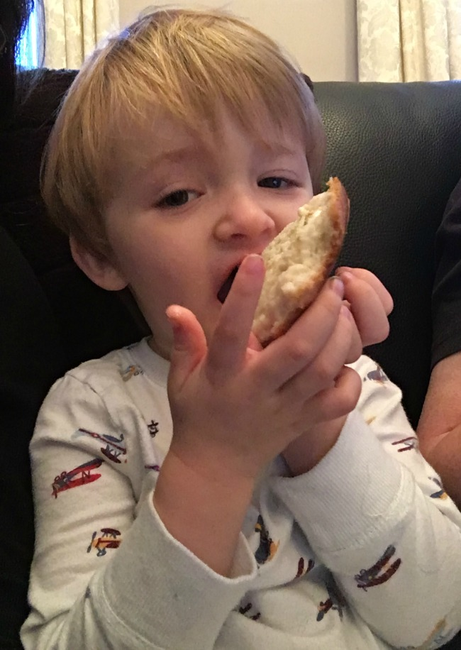 weekly-update-Flu-Bear-and-Me-toddler-eating-bread