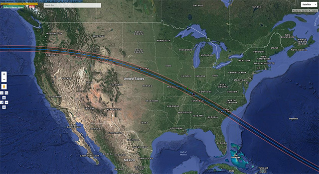 Xavier Jubier's eclipse overlay for Google Maps