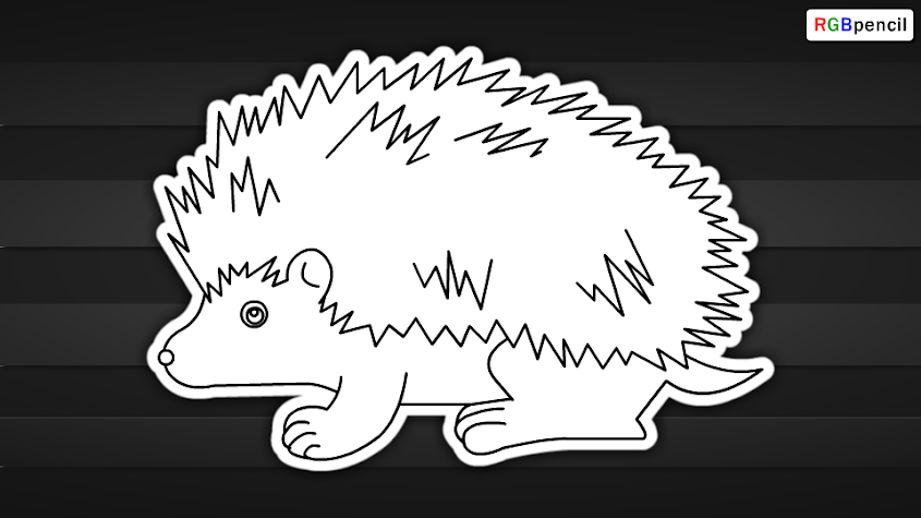 how to draw porcupine for kids 07