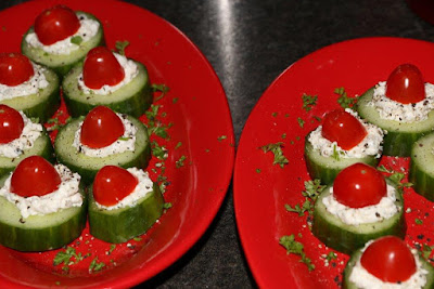 Quick Cucumber-Tomato Snacks