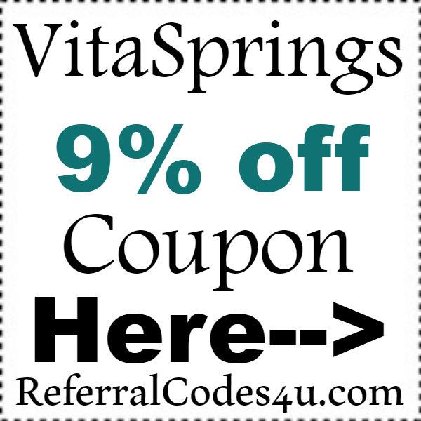 VitaSprings Discount Code 2016-2017, VitaSprings.com Coupons October, November, December
