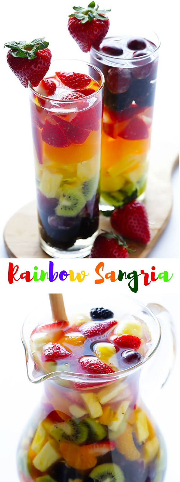 RAINBOW SANGRIA #Drinks #Summer