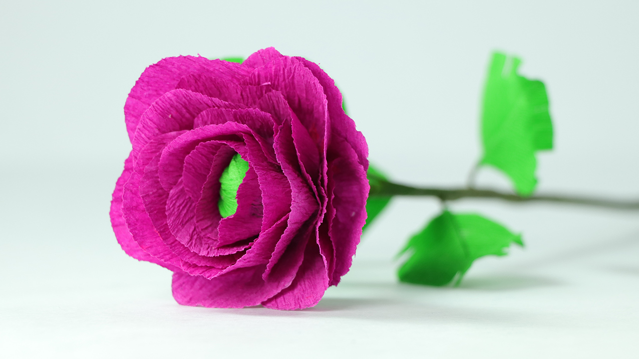 How To Make Handmade Crepe Paper Flowers Simple Step By Step
