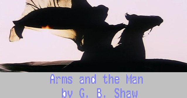 arms and the man essay Gbshaw, arms and the man (1894) 2 poetry dryden, absalom and achitophel (1681) alexander pope, the dunciad (1728) byron, don juan (1819-24.