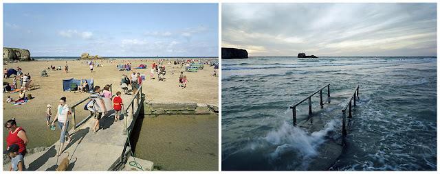 Maré alta e baixa - Cornwall, Reino Unido - 29 e 30 de agosto de 2007