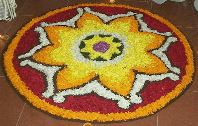onam pookalam pictures with theme