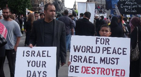 IN LONDON TODAY, ANTI-SEMITISM ON FULL DISPLAY: Hezbollah march for Israel's destruction not considered 'incitement'