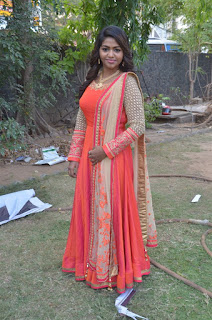 Actress Shalu Shamu Stills in Red Dress at Kekran Mekran Audio Launch 0006