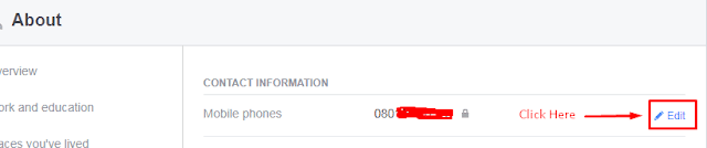 Facebook, Mobile number,