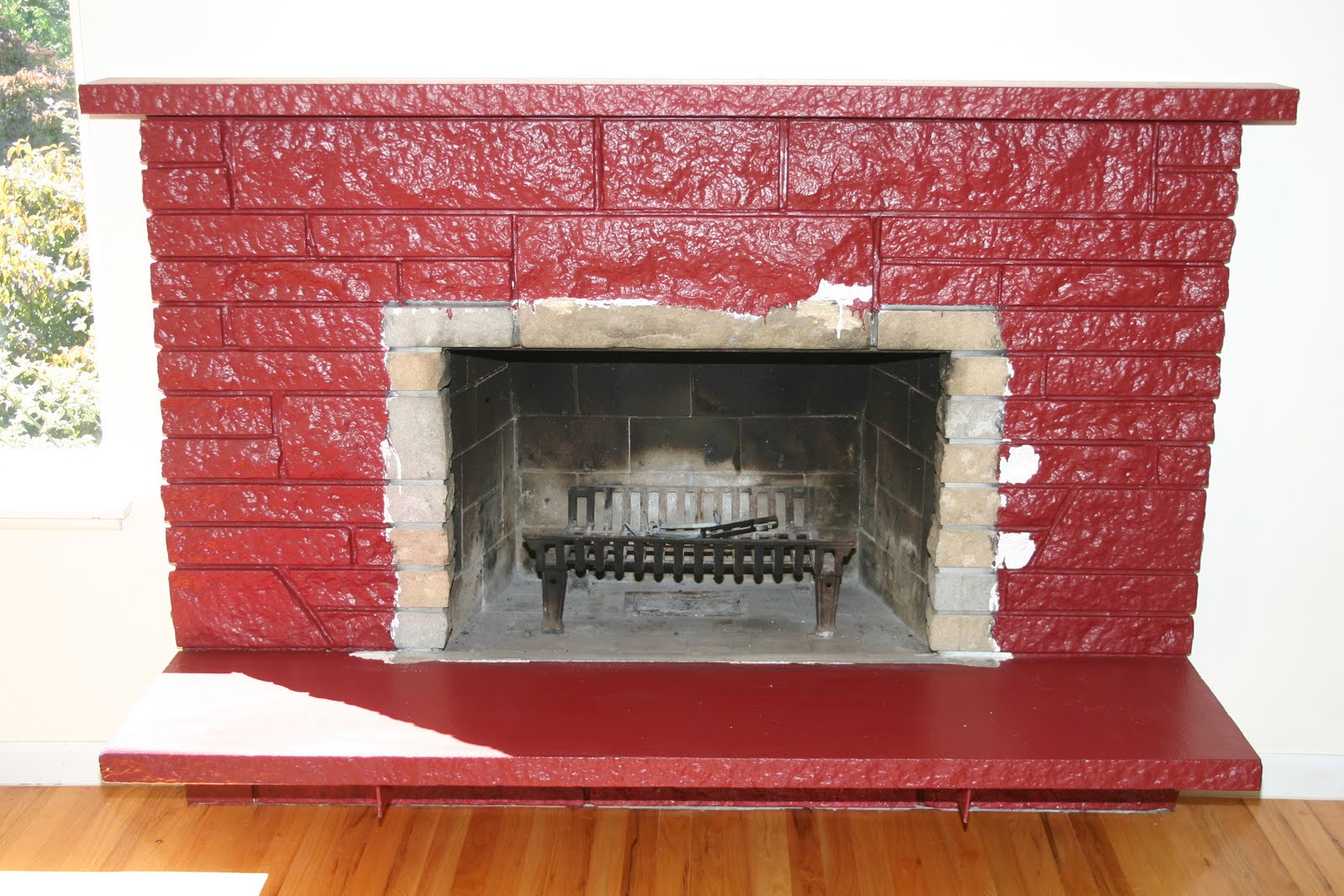 Food, Wine, and Home: How to Update an Ugly Fireplace on a ...