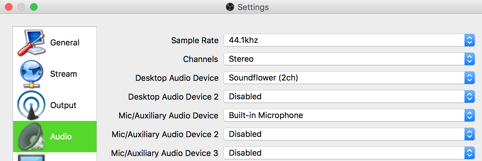 CodeZest: Setting up OBS with Audio Output in Mac OS X