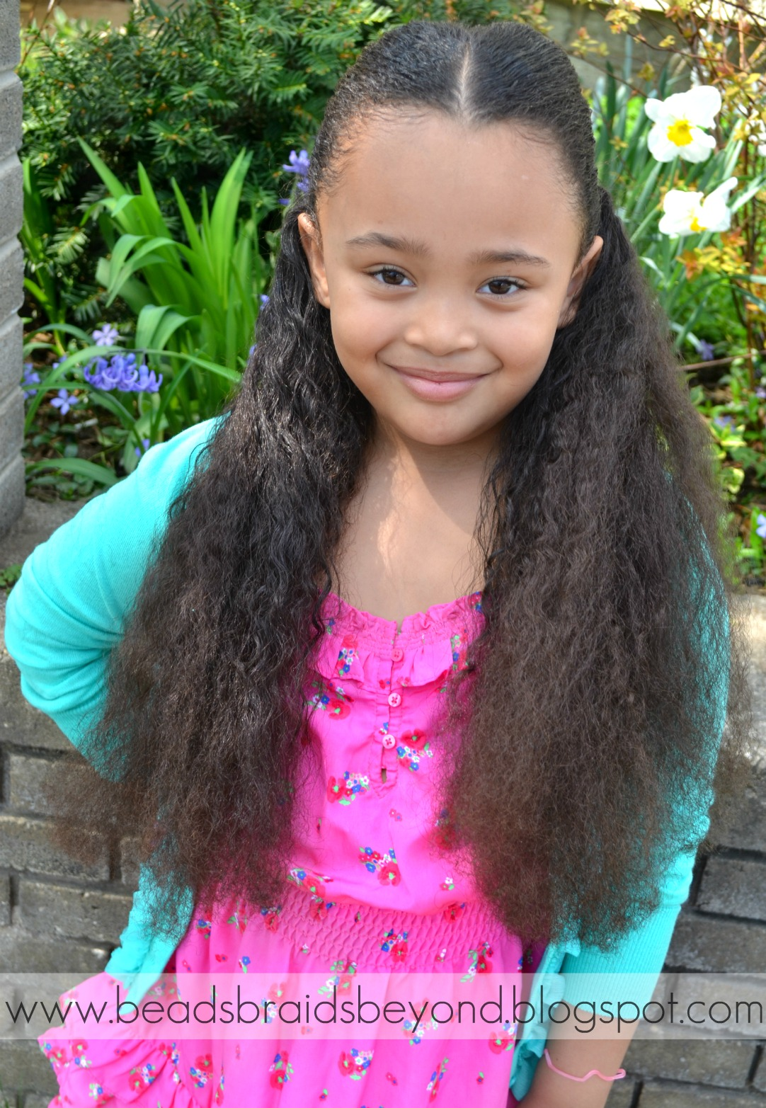 Hairstyle And Care Tips Half Up Half Down Banded Natural Hair