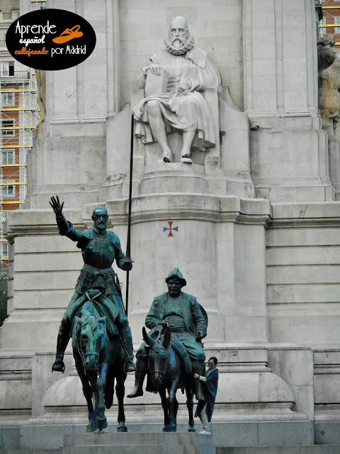 monumento a Cervantes en Madrid