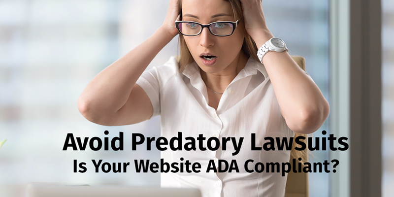 Woman is upset over predatory ADA lawsuits. CC Communications can help.