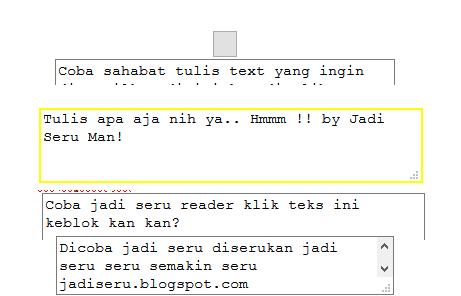 Macam macam cara membuat Text Area di blogspot