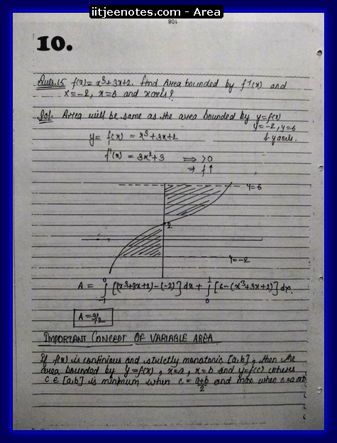 area under curve notes3