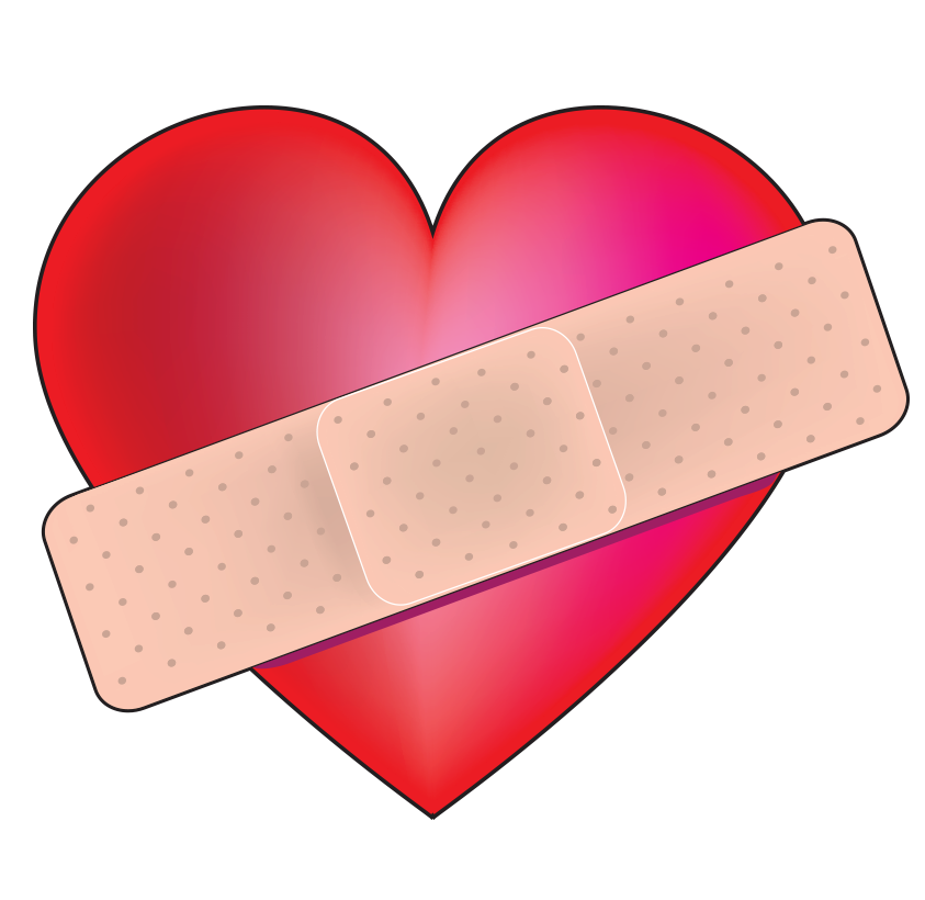 Bandaged Heart For Facebook | Symbols & Emoticons