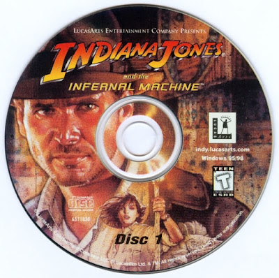 Label Indiana Jones And The Infernal Machine Disc 1 PC